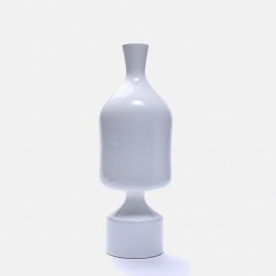 白色几何陶瓷花瓶V34 | 手工打造 精致富有艺术感