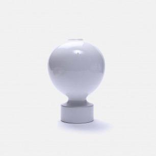白色几何陶瓷花瓶V9/3 | 手工打造 精致富有艺术感
