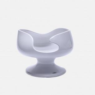 白色几何陶瓷花瓶E4 | 手工打造 精致富有艺术感