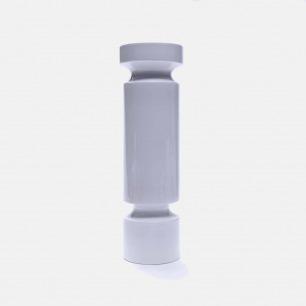 白色几何陶瓷花瓶V16/5 | 手工打造 精致富有艺术感