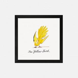 英国自然装饰画 黄色的鸟 | 爱德华·利尔绘于1880年