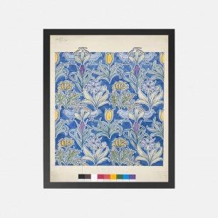 自然植物装饰画 花儿与鸟 | 英国C. F. A. Voysey作品