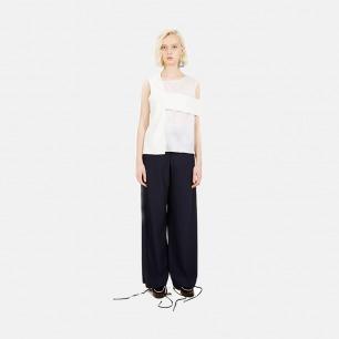 条纹休闲长裤(藏青)