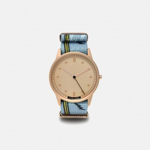 蓝色格纹时尚手表Highline | 玩酷街头的简约潮表38mm