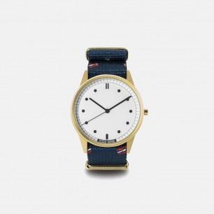 海蓝条纹时尚手表Vienna | 玩酷街头的简约潮表38mm