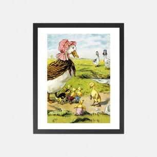 安徒生插画丑小鸭 装饰画 | 绘于二十世纪初的经典形象