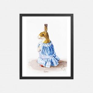 毛绒兔子彼得 家居装饰画 | 英国G.A. Cattley作品