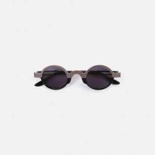 复古黑色钛金眼镜KeithB1 | 个性时髦 轻巧钛金打造