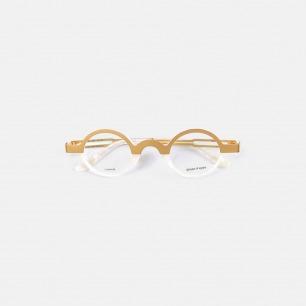 复古双色眼镜KeithB1金珂 | 个性时髦 轻巧钛金打造
