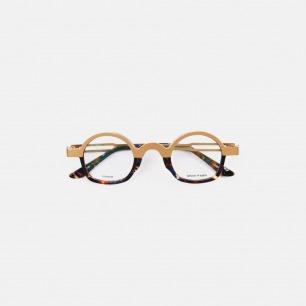 复古双色眼镜KeithB2青金 | 个性时髦 轻巧钛金打造