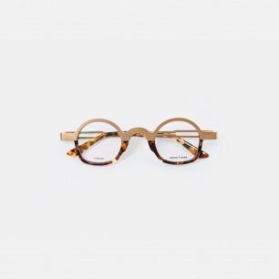 复古双色眼镜KeithB2玳金 | 个性时髦 轻巧钛金打造