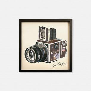 复古相机-手工拼贴装饰画 | 每幅都是独一无二的艺术品