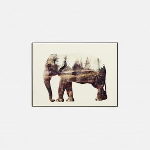 森林与大象-水晶艺术版画 | 水晶分隔空气 画面恒久稳定