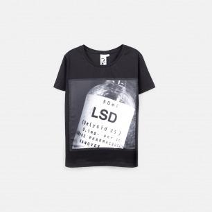 LSD 女士纯棉精梳双丝光T恤 黑色