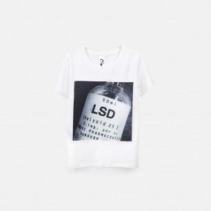 LSD 女士纯棉精梳双丝光T恤 白色