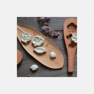 山舍花型手工木制烘焙模具 | 手工雕刻 造型精致好看