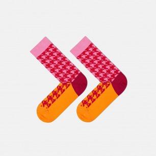 红橙千鸟款 全棉长款男袜 | 为有趣的人做有趣的袜子