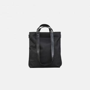 黑色两用式单肩包/托特包    极简风格 巧妙可伸缩设计