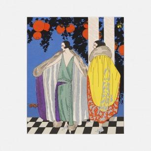 家居装饰画 最是两件披风 | 描绘追求摩登生活的女郎