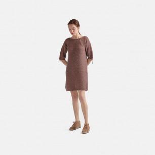 暗红色绒感半袖连衣裙 | 宽松舒适 内搭外穿都可以
