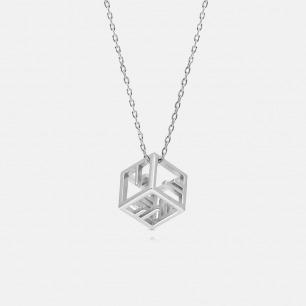 I want u摩尔斯电码项链 | 镂空立体几何造型