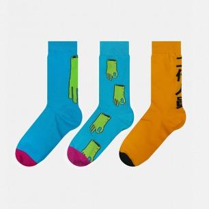 英伦中筒袜艺术家合作款 | 简约ok图案&潮流文字款式