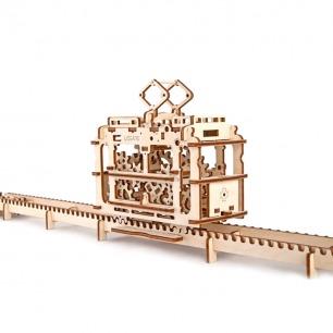 乌克兰木质机械传动模型   有轨电车