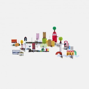建筑组合立体拼图 | 源自荷兰的纸品艺术
