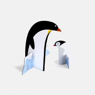 荷兰立体拼图 大小企鹅 | 配套信纸信封 趣味传情
