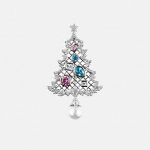 圣诞树胸针