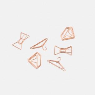玫瑰金系列创意回形针   多款可选 百变时尚