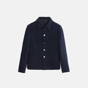 独立设计师品牌 针织羊毛夹克