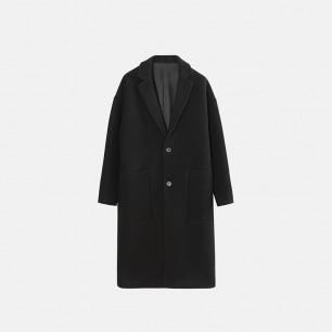 独立设计师品牌 超长翻领大衣(两色可选)