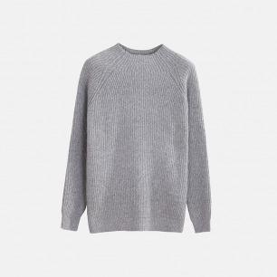 独立设计师品牌 高领套头毛衣(两色可选)