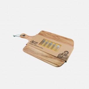 防污防腐隔离菌层 英式木菜板+芝士叉套装