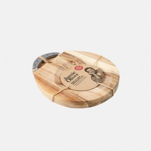 意式木菜板+披萨刀套装 | 简约高质量设计 厚实有分量