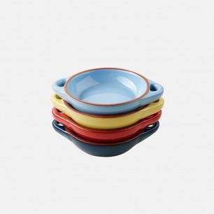 四色釉彩复古含蕴 西班牙风格TAPAS碗 四件套