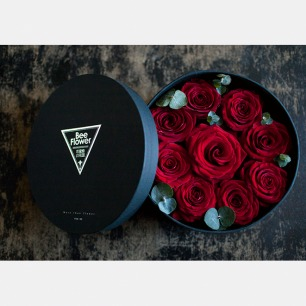 厄瓜多尔进口红玫瑰礼盒 | 经典黑红色搭配 优雅大气