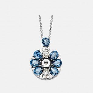 墨蓝吊坠项链 绽放系列   智能珠宝 用首饰传递心意