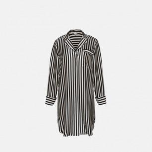 "Stripe Nightshirts ""黑白摩登""系列-条纹长衬衫"