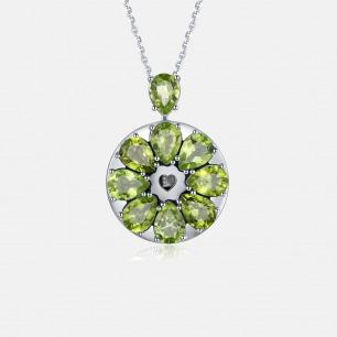 绿橄榄吊坠项链 绽放系列   智能珠宝 用首饰传递心意