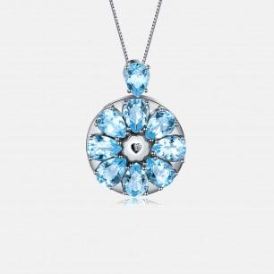 蓝托帕吊坠项链 绽放系列   智能珠宝 用首饰传递心意