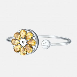 黄水晶手镯 绽放系列    智能珠宝 用首饰传递心意