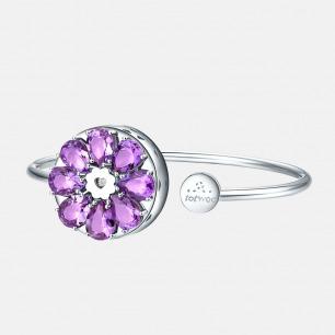 绽放系列 紫水晶手镯   不再错过她的来电