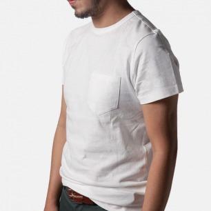 复古运动白T恤-口袋款 | 猫王爱的运动Tee