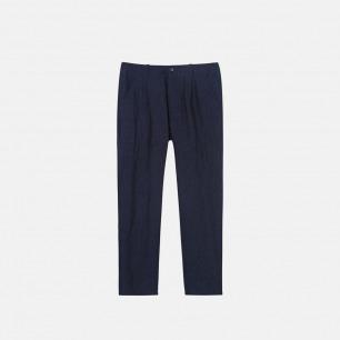 棉麻锥形长裤 日本进口棉麻混纺布料 17A-52C09