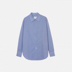 松紧宽松衬衫 中性长款衬衫17A-22B99