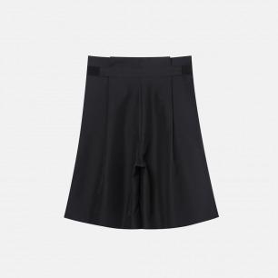 松紧百褶短裤 可调节魔术贴松紧设计 17A-50B99