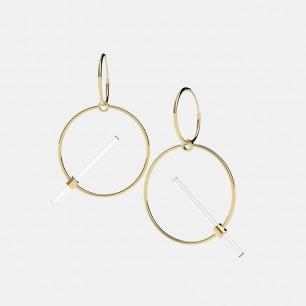 胶囊系列 金色光环耳饰 | 精致独特 时尚百搭