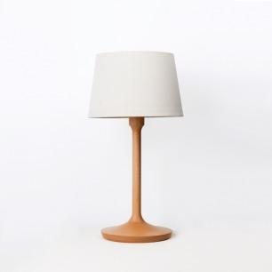 复古工字型薄底台灯 | 灯光温暖 2种木材底座可选